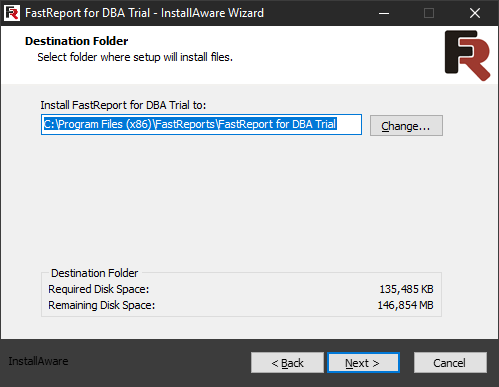 FastReport for DBA installation. Fifth step.