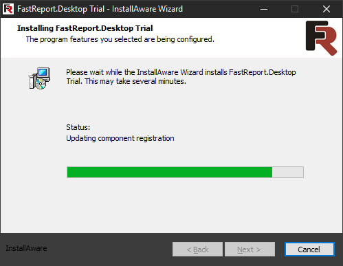 FastReport Desktop Install wizard. Eighth step