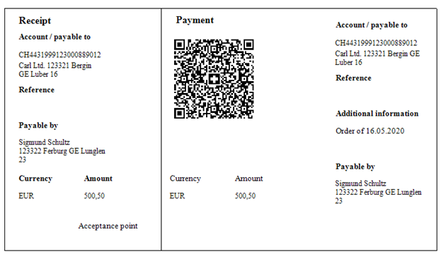 Swiss QR-bill created by FastReport.Net