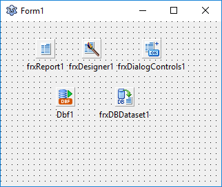 Form in Lazarus with FastReport components
