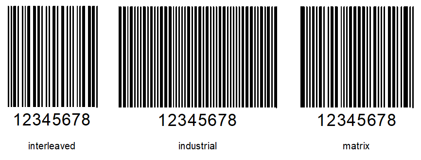 ITF条形码示例