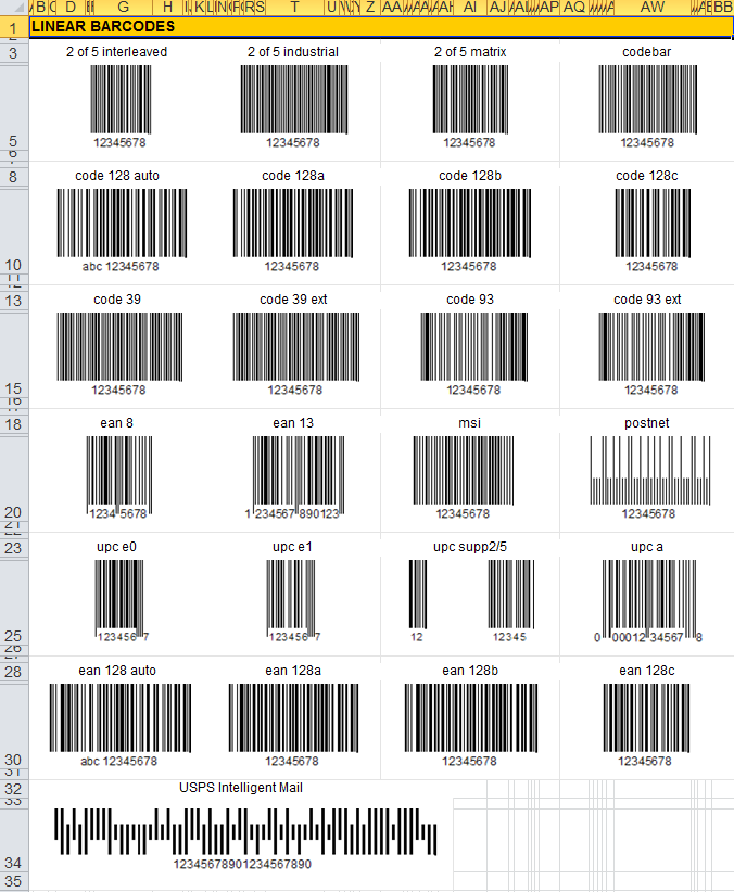 XLSX Excel 2007 stores images and barcodes