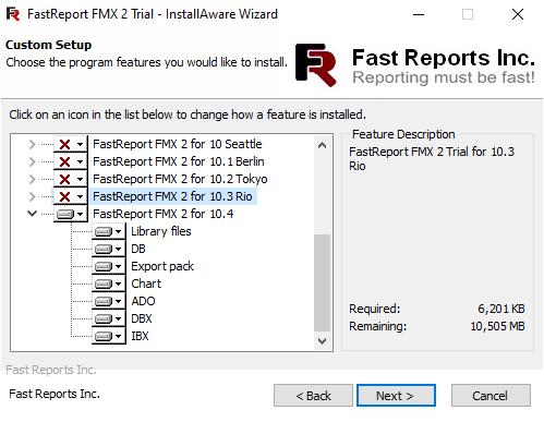 FastReport FMX 2安装
