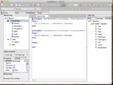 "Report script in ""Delphi for Mac OS X"""