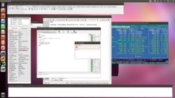 Fast Script main Demo compiled under Delphi FMX for Ubuntu - evaluate window.