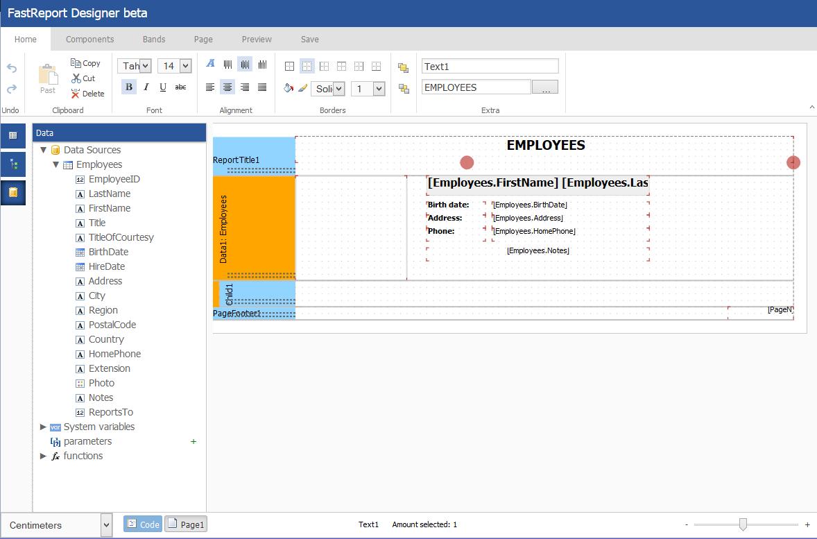 Visual Studio Report Designer | Fastreport Net 2015 With Online Web Report Designer Fast Reports Inc